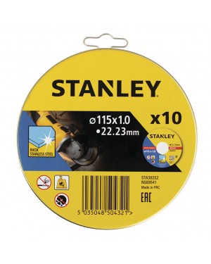 RATIO Tin 10 stainless steel cutting discs. STANLEY