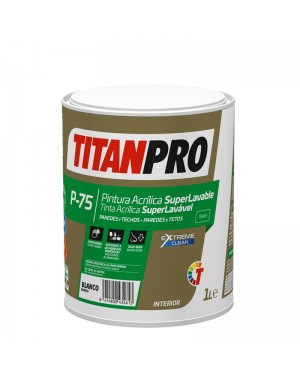 Titan Pro Acrylfarbe Super abwaschbar P75 Mattweiß Titan Pro