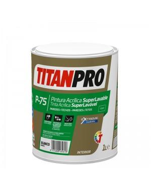Titan Pro Peinture Acrylique Super Lavable P75 Blanc Mat Titan Pro