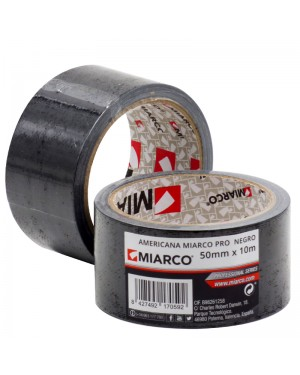 Miarco Cinta americana Miarco Pro 50mm x 10m Negro