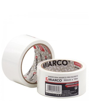 Miarco Cinta americana Miarco Pro 50mm x 10m Blanco