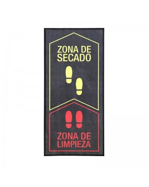 DINTEX Blue-red polyamide disinfectant doormat 67x150 cm