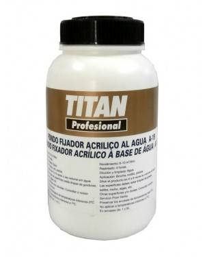 Acrylic fixative to the Titan water fund