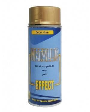 Spray effect metallic 400 mL gold-silver-copper