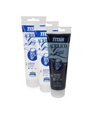 Cores Branco e preto zinco Acrílicos Estudo Titan Goya