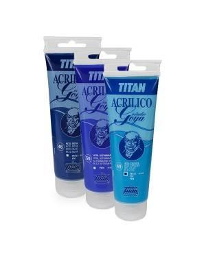 Couleurs bleues Acryliques étude Goya Titan