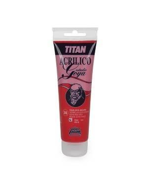 Cores vermelhas Acrílicos Titan Estudo Goya