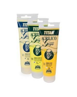 Titan Arts Colores Amarillos Acrílicos Goya Estudio Titan