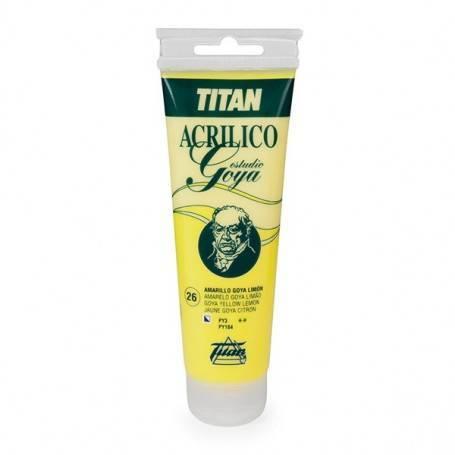 Yellow colors Titan Goya Acrylics Study