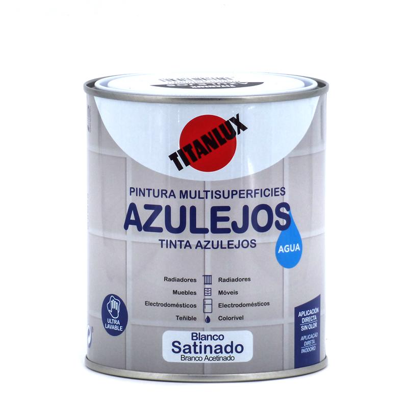Smalto per piastrelle a d 39 acqua bianco titan 750 ml - Primer per piastrelle ...