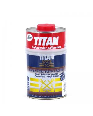 Vernice poliuretanica + scocca in titanio acrilico satinato