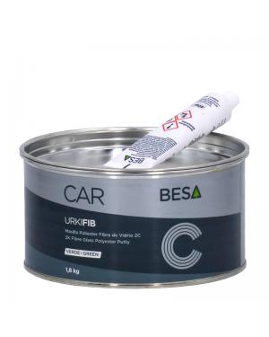 Besa Masilla poliéster fibra de vídrio 2C URKI-FIB Verde 1,8KG BESA