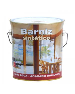 Barniz sintético al agua incoloro brillante Bupisa