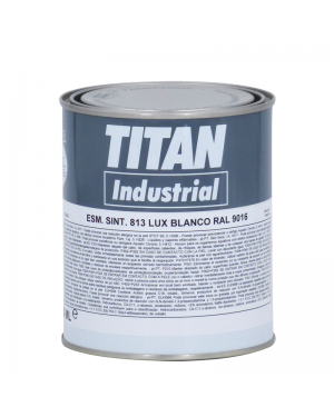 Titan Synthetic Enamel 813 White RAL 750 ML Titan
