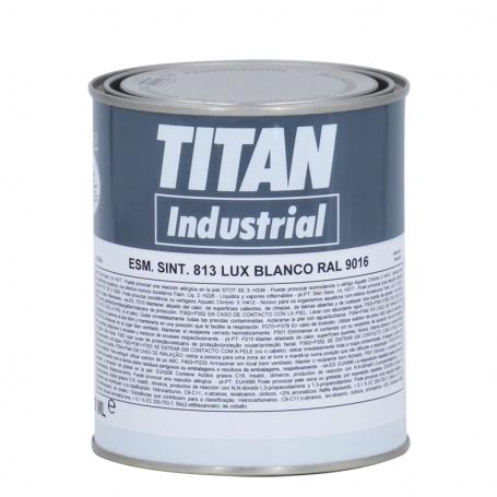 Titan Esmalte Sintético 813 Blanco RAL 750 ML Titan