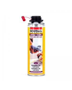 Poliuretano de espuma Soudal Cleaner 500 ml Soudal