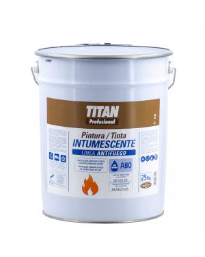 Titan Profesional Pintura Intumescente al Agua Titan A80 25 KG Blanca