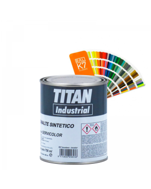 Esmalte sintético Titan Titanium brilhante 813
