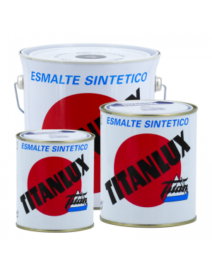 Titanlux esmalte branco / preto brilhante