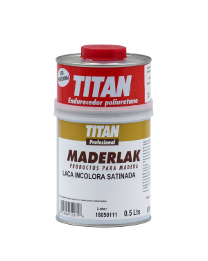 Titan Profesional Laca PU Incolora Satinada Maderlak 750 ml