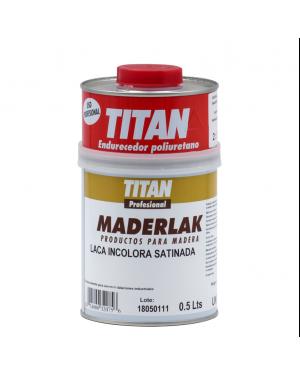 Titan laca PU incolor cetim Maderlak 750 ml