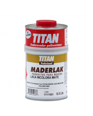 Titan Profesional Laca PU Incolora Mate Maderlak 750 ml