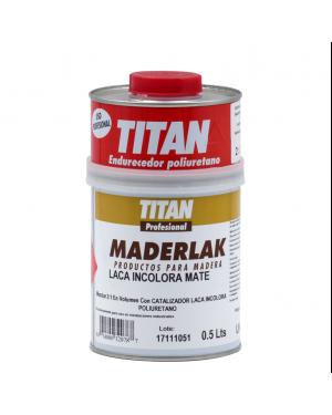 Titan Lacquer PU Incolor Maderlak Mate 750 ml