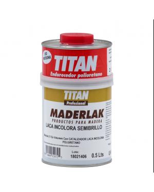 Titan Profesional Laca PU Incolora Semibrillo Maderlak 750 ml