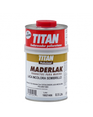 Titan Lacquer PU Colorless Semi-gloss Maderlak 750 ml