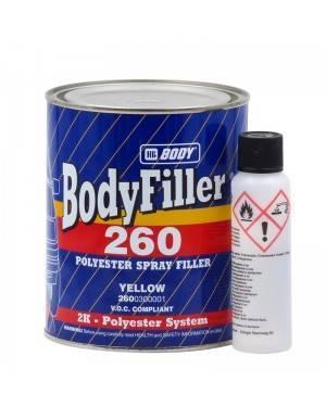 HB BODY Masilla Poliéster a pistola Bodyfiller 260 HBBody 1L