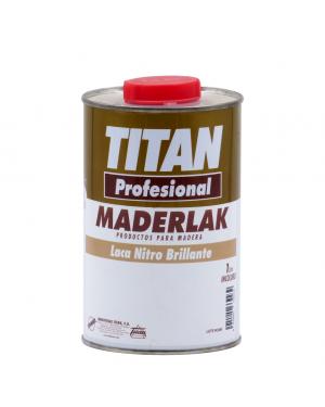 Titan Laca Nitro Brillante Inocolora Maderlak 1L