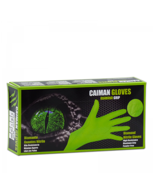 World Glove Box 50 Gloves Nitrile Diamond Caiman Size XL Green
