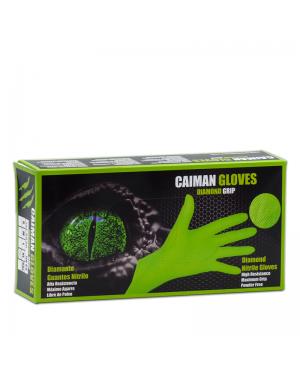 Mundo guante Caja 50 guantes Nitrilo Diamantado Caiman Talla XL Verde