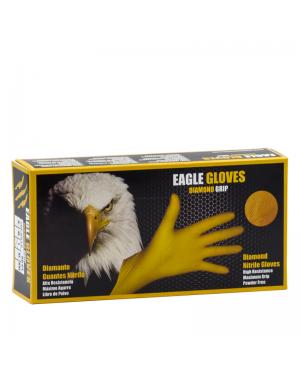 Mundo guante Caja 50 guantes Nitrilo Diamantado Eagle Talla L Amarillo