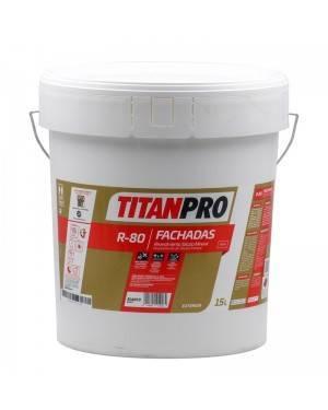 Titan Pro Peinture minérale au silicate blanc mat, 15L, R80 Titan Pro