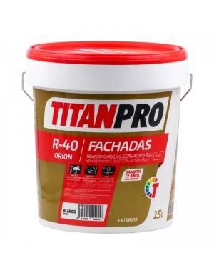 Titan Pro Revestimiento 100% acrílico puro Blanco mate 15L R40 Titan Pro