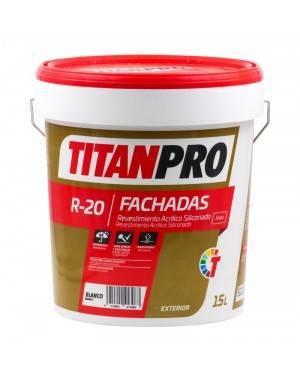 Titan Pro Siliconized revestimento acrílico Branco mate 15L R20 Titan Pro