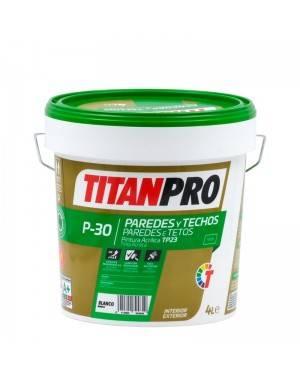 Titan Pro Pintura acrílica TP23 Blanco mate P30 Titan Pro