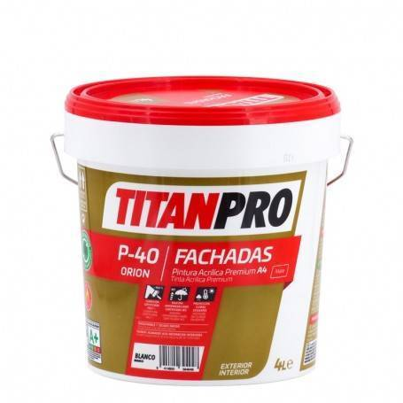 Titan Pro Acrylic Paint Premium A4 Matt White P40 Titan Pro