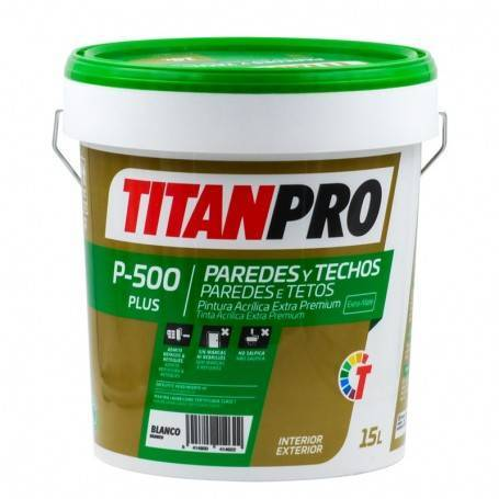 Titan Pro Pintura acrílica Extra Premium Blanco mate P500 Titan Pro
