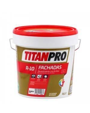 Titan Pro Revestimiento acrílico Liso Blanco mate R10 Titan Pro