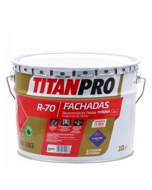 Titan Pro Revestimento Pliolita Titania Matt branco 10L R70 Titan Pro