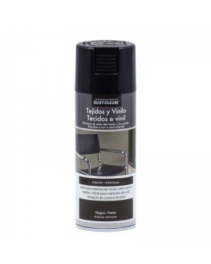 Tecidos Spray Rust-Oleum e Vinil Preto Rust-Oleum 400 mL