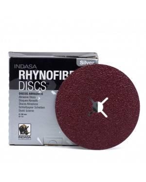 Disque de papier abrasif Indasa 180 mm Rhynofibre A Argent Indasa