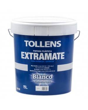 Tollens Pintura Plástica Blanca ExtraMate 15L Tollens
