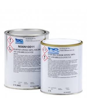 Bemal Systeme Wassrige Barniz/Resina Epoxi Transparente 100% Sólidos 900g + 600g Catal