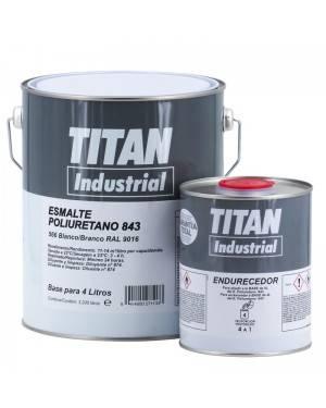 Titan Industrial Poliuretano-Acrílico Esmalte Titan 843 Branco 4L