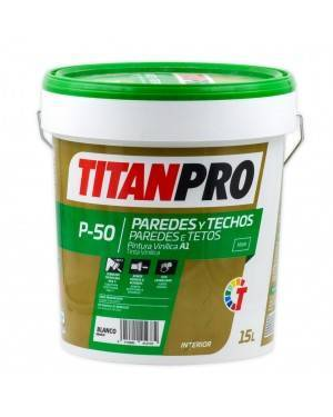 Titan Pro Peinture vinylique blanche extra mat 15L P50 Titan Pro