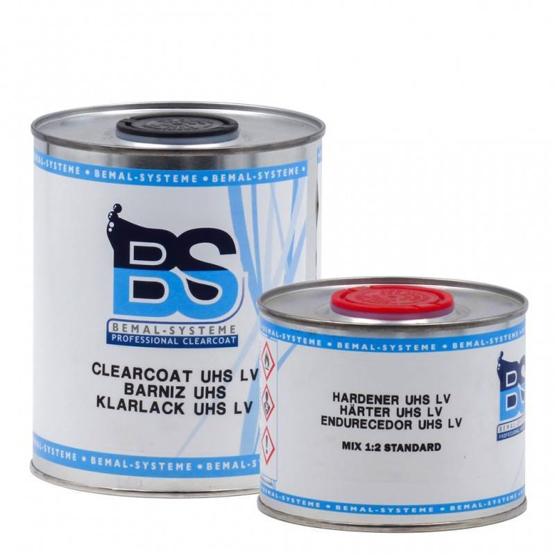Bemal Systeme Wassrige Acrylic Varnish UHS LV BS with Catalyst