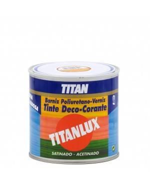 Tintura de poliuretano profissional Verniz Titan para água acetinada 500ML